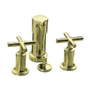 KOHLER Purist Vibrant French Gold Vertical Spray Bidet Faucet