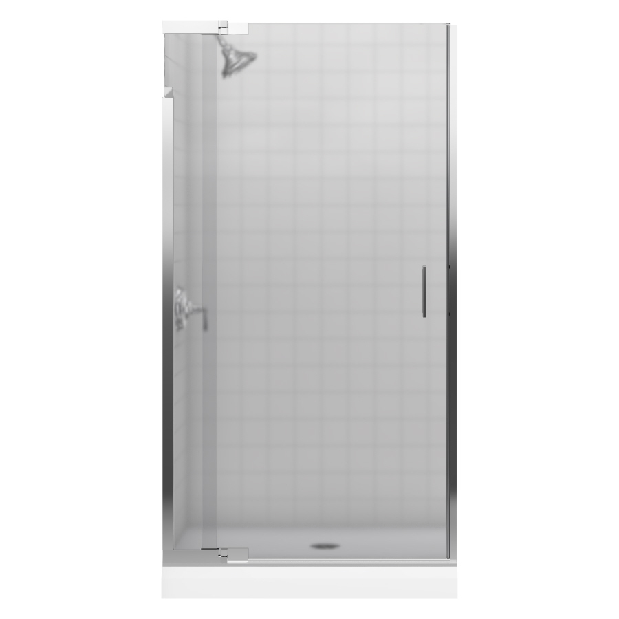 shop kohler 36 in to 39 in frameless pivot shower door at lowes