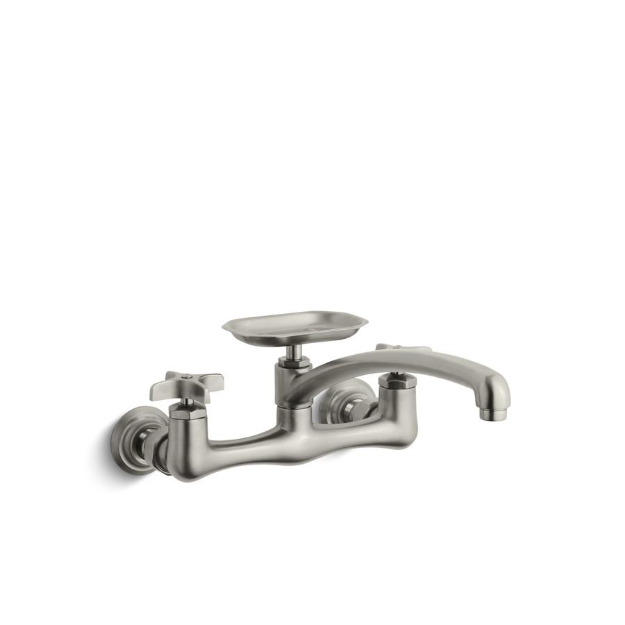 Shop Kohler Clearwater Vibrant Brushed Nickel 2 Handle Utility Sink Faucet At