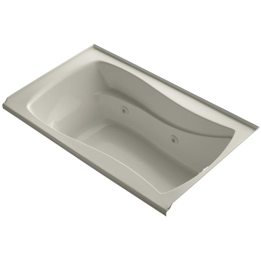 ... kohler mariposa sandbar acrylic hourglass in rectangle whirlpool tub