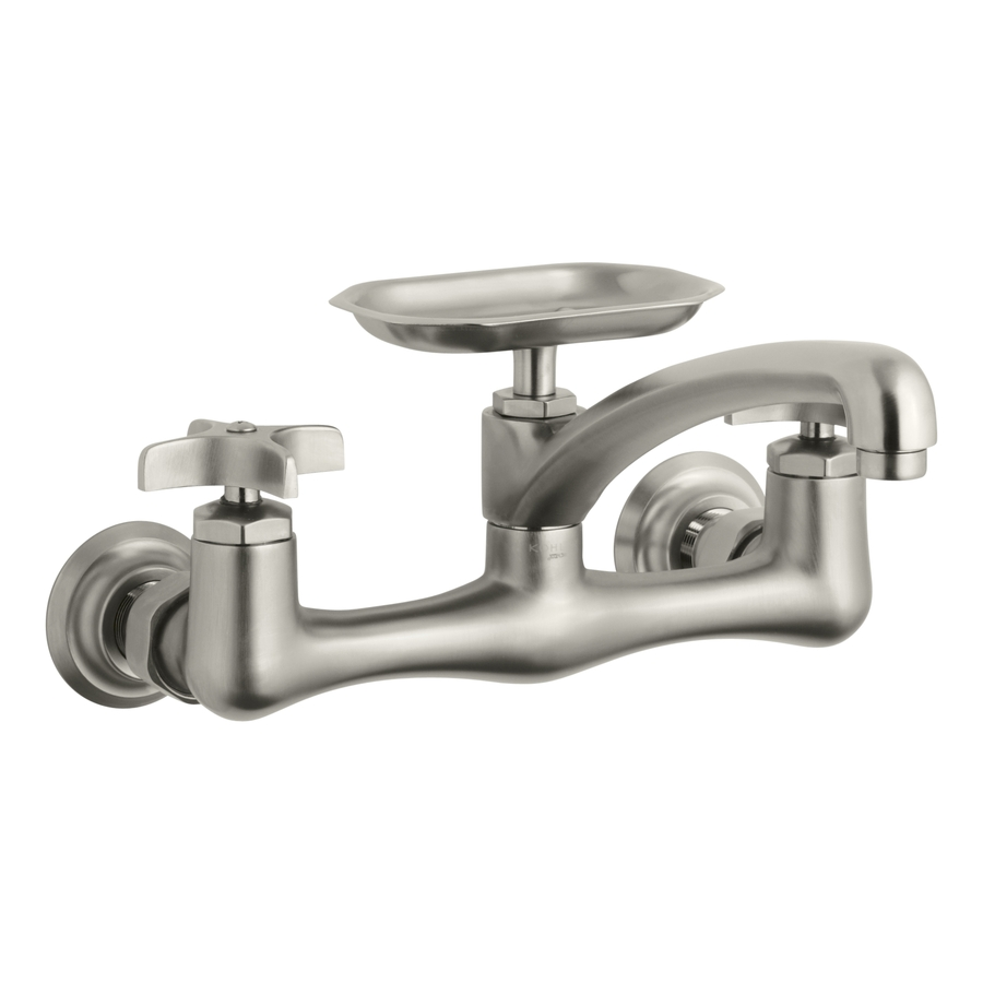 Faucet Utility Sink : ... Vibrant Brushed Nickel 2-Handle Utility Sink Faucet at Lowes.com