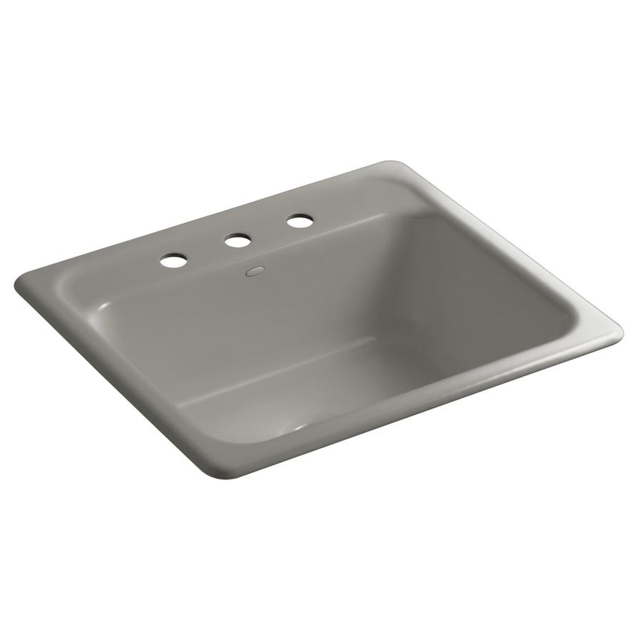 Shop KOHLER Mayfield Cashmere Single-Basin Drop-In Kitchen Sink at ...