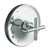 KOHLER Purist 1-Handle Bathtub and Shower Faucet Trim Kit with Single Function Showerhead