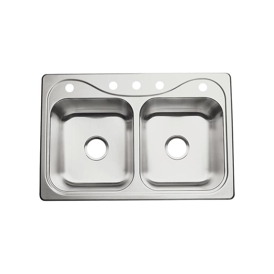 Sterling Kitchen Sink : ... -Gauge Double-Basin Drop-In Stainless Steel Kitchen Sink at Lowes.com