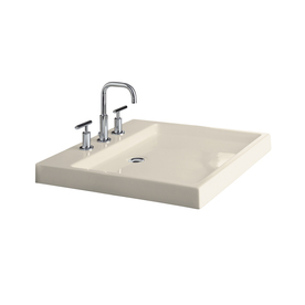 Shallow Depth Pedestal Sink : Home Bathroom Bathroom & Pedestal Sinks Bathroom Sinks KOHLER Almond ...