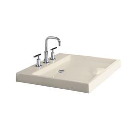Shop Kohler Almond Fire Clay Vessel Bathroom Sink At