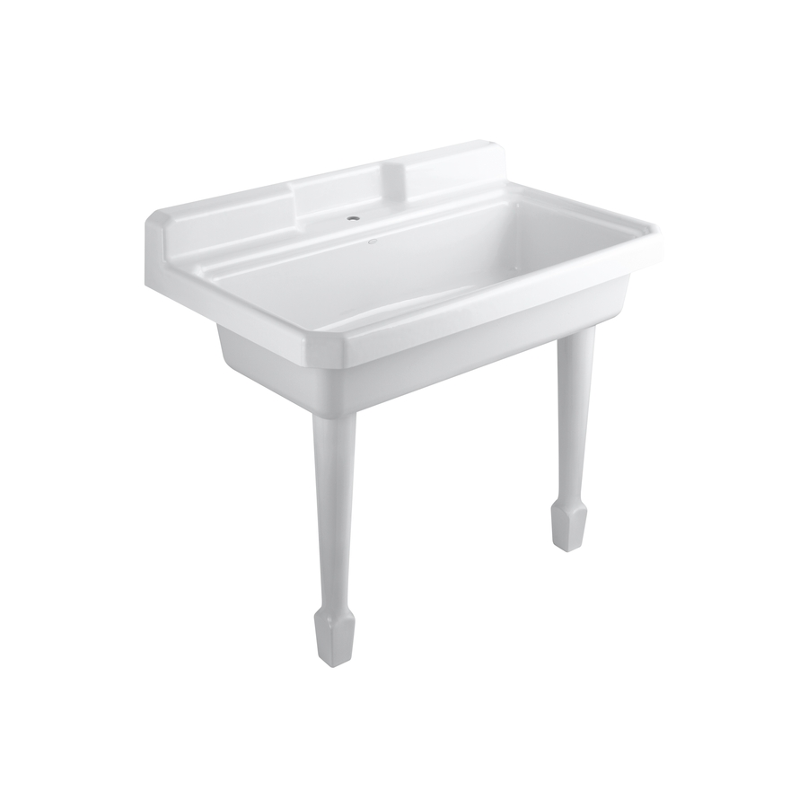 Slop Sink : Shop KOHLER White Cast Iron Laundry Sink at Lowes.com