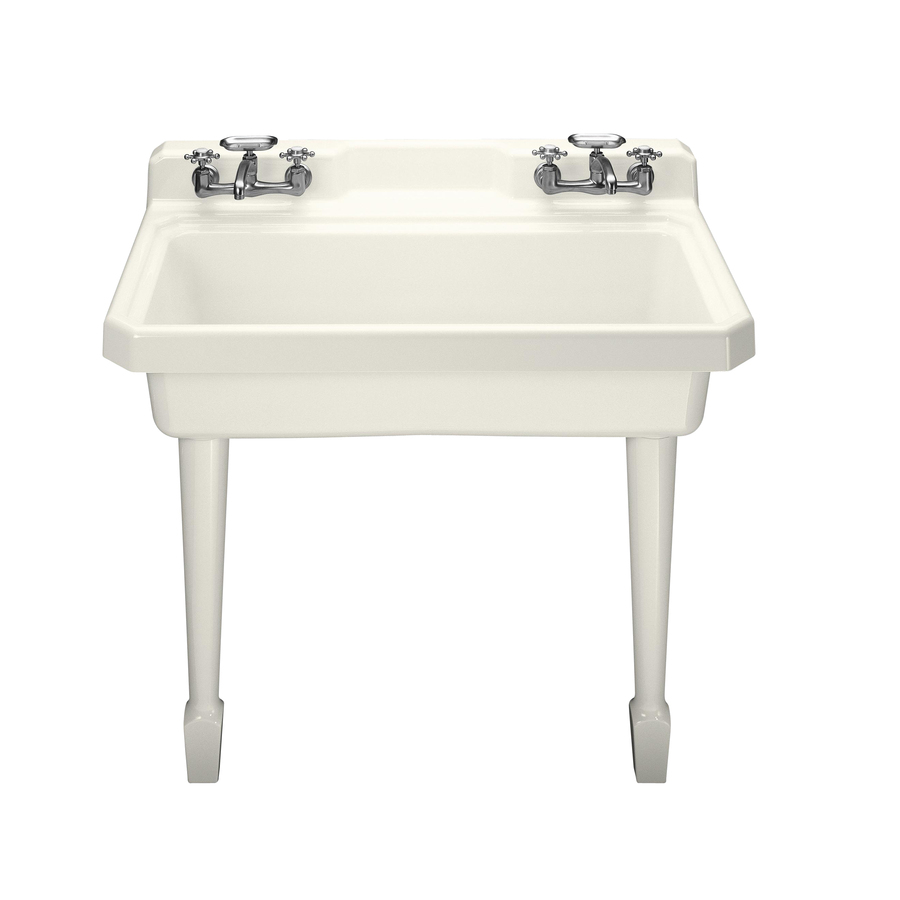Laundry Basin Sink : Shop KOHLER Biscuit Cast Iron Laundry Sink at Lowes.com