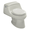 KOHLER San Raphael Ice Grey 1.6-GPF (6.06-LPF) 12-in Rough-in Round Standard Height Toilet