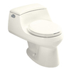 KOHLER San Raphael Biscuit 1.6-GPF (6.06-LPF) 12-in Rough-in Round Standard Height Toilet