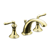 KOHLER Devonshire Vibrant Polished Brass 2-Handle Widespread WaterSense Bathroom Sink Faucet (Drain Included)