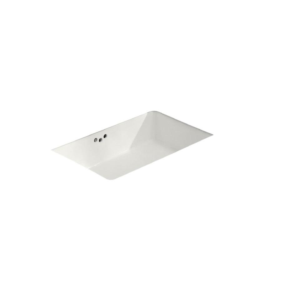 Rectangular Bathroom Sinks Undermount : Shop KOHLER Kathryn White Undermount Rectangular Bathroom Sink with ...