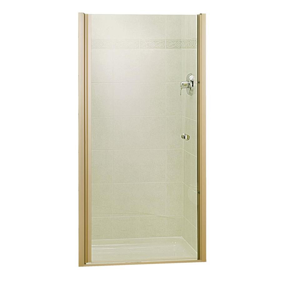 Shop Sterling Brushed Nickel Frameless Hinged Shower Door