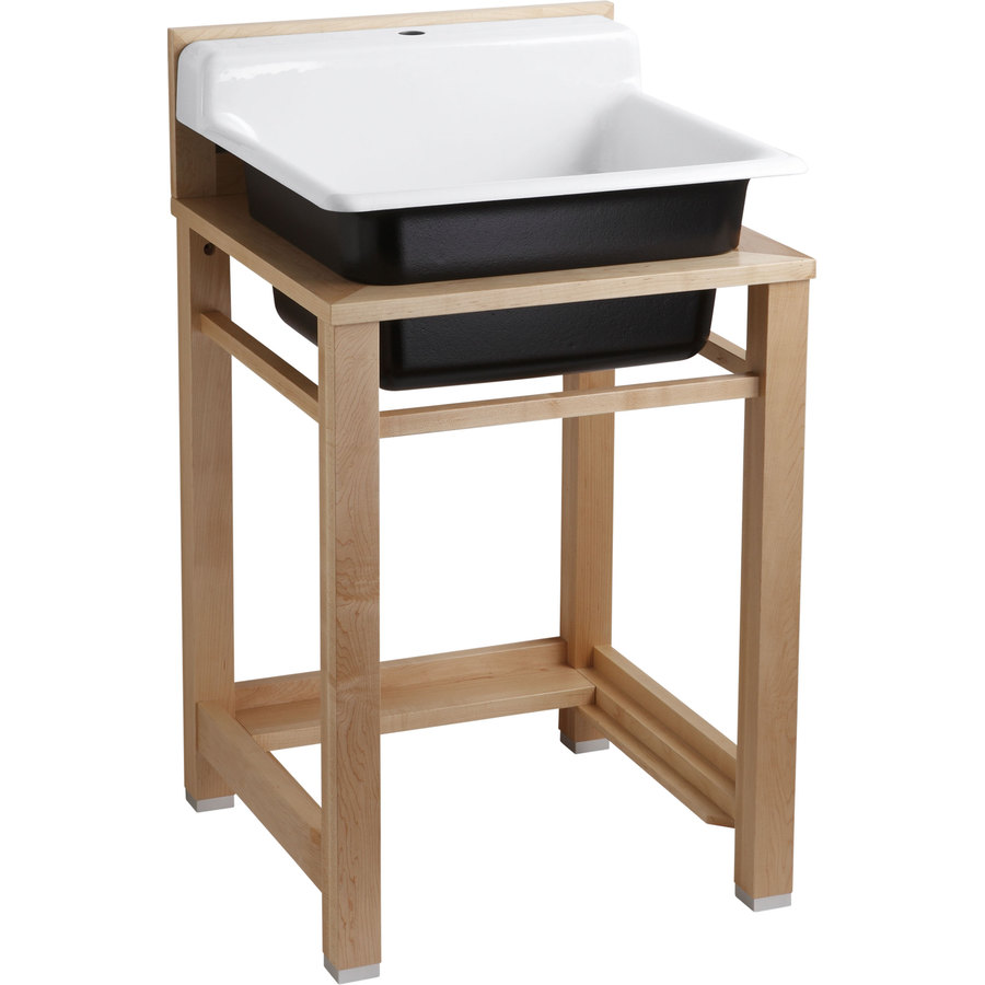Shop KOHLER White Cast Iron Laundry Sink at Lowes.com