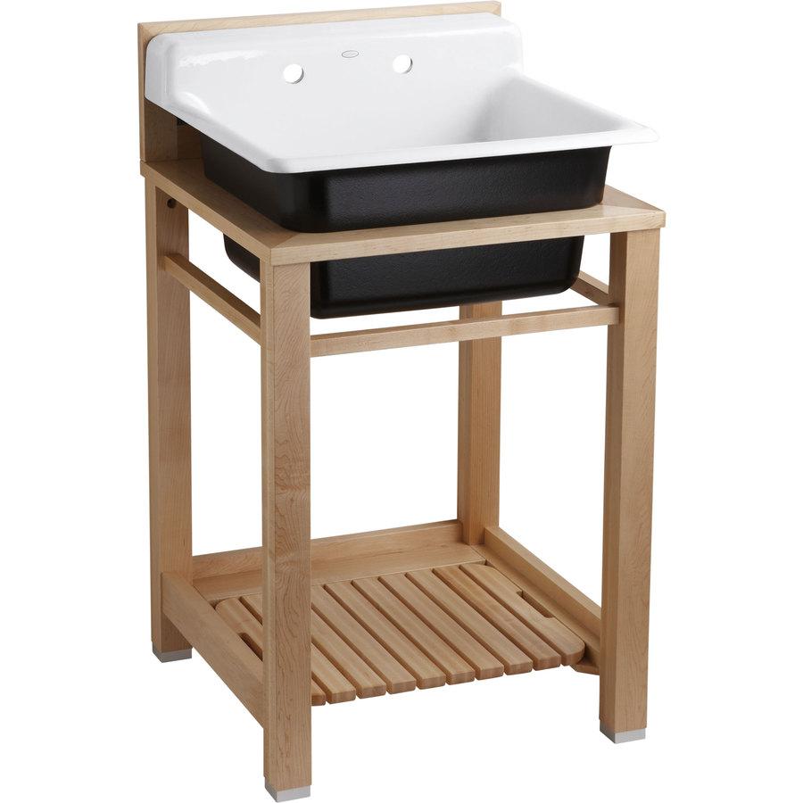Shop KOHLER White Cast Iron Laundry Sink at Lowes.com