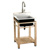 KOHLER 24-in x 25.5-in White Self-Rimming Cast Iron Laundry Utility Sink
