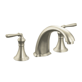 KOHLER Devonshire Vibrant Brushed Nickel 2-Handle-Handle Fixed Deck Mount Bathtub Faucet