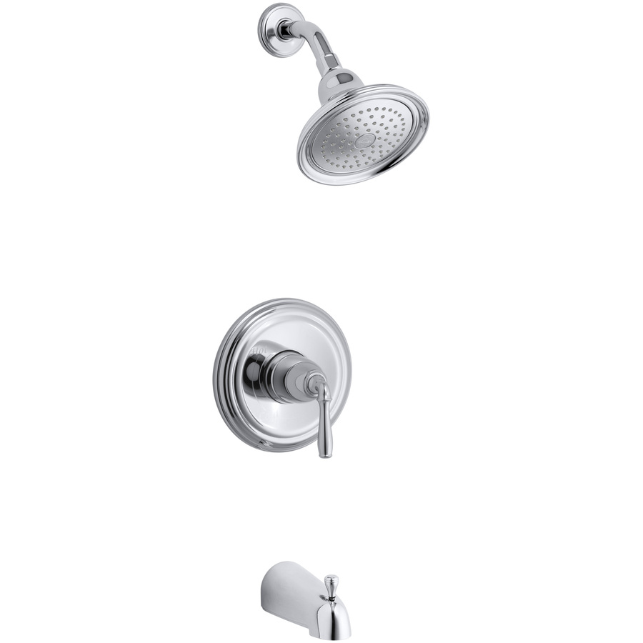 KOHLER Devonshire Polished Chrome 1-Handle Bathtub and Shower Faucet ...
