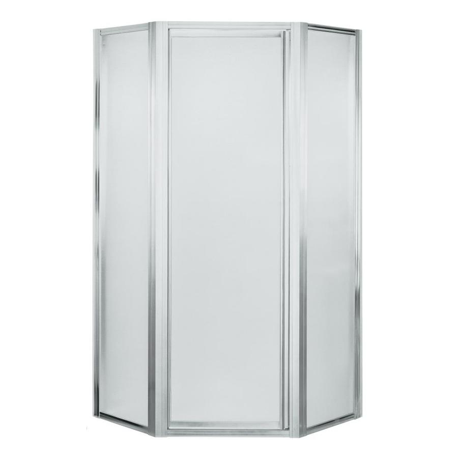 Shop Sterling Silver Neo Angle Shower Door At