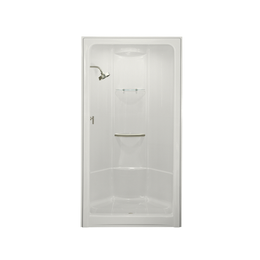 4 piece tub and shower unit. Aqua Glass I 500 60X36 One Piece Bathtub And Shower Left  Shop Kohler Freewill Biscuit Acrylic With