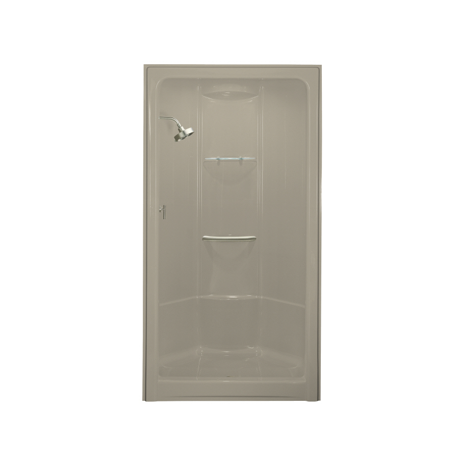Shop KOHLER Sandbar Acrylic One Piece Shower Common 36 In X 48 In Actual