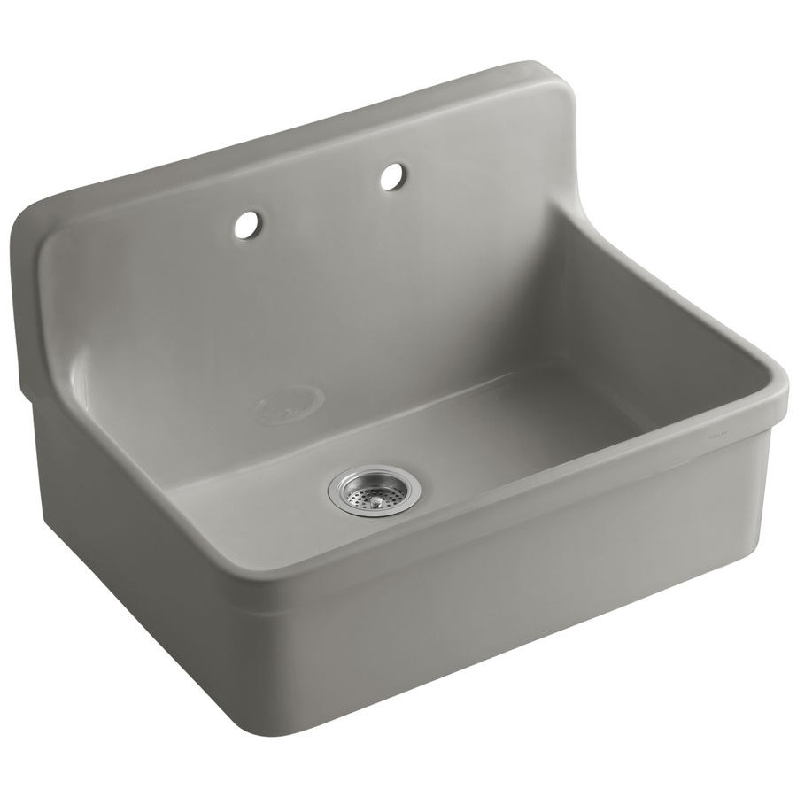 Kohler Single Basin Kitchen Sink : Shop KOHLER Gilford Single-Basin Drop-in Porcelain Kitchen Sink at ...