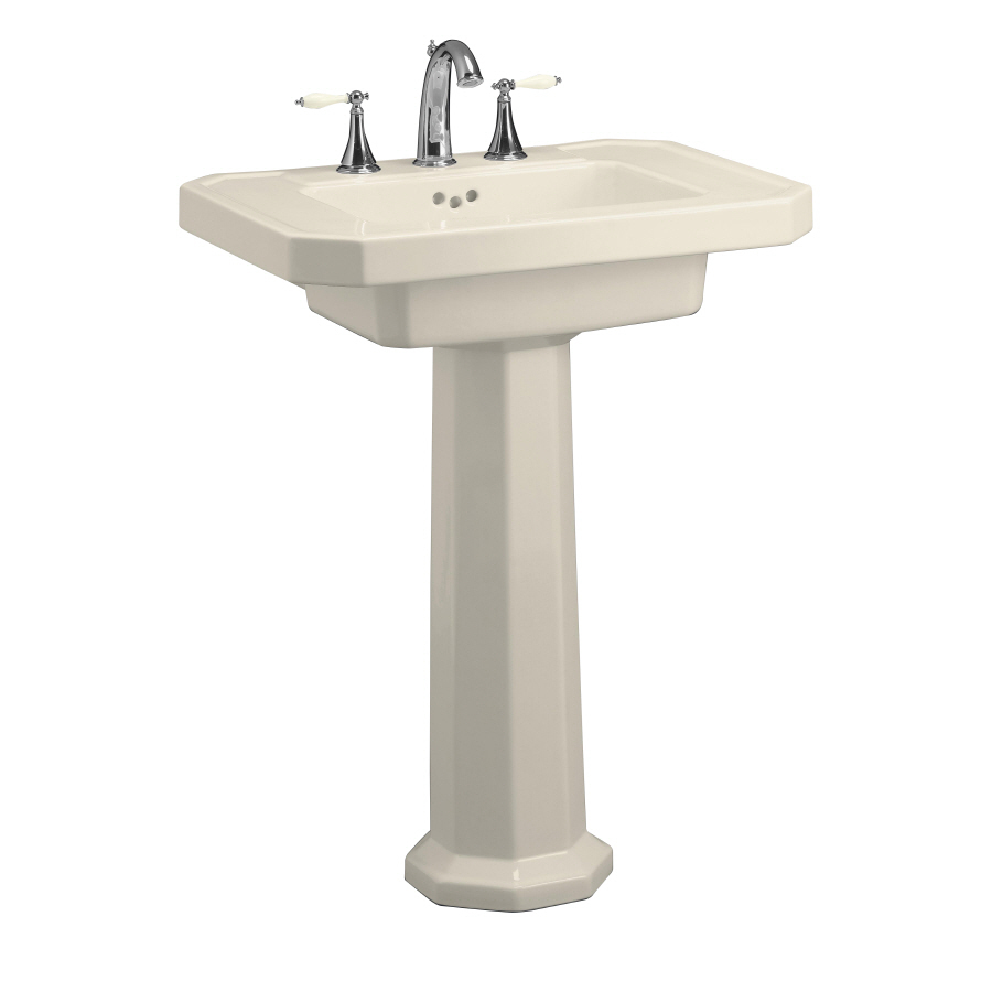 ... Kathryn 35-in H Almond Fire Clay Complete Pedestal Sink at Lowes.com