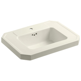 Elliston Pedestal Sink : ... 27-in L x 20-in W Biscuit Fire Clay Rectangular Pedestal Sink Top