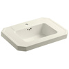 KOHLER Kathryn 27-in L x 20-in W Biscuit Fire Clay Rectangular Pedestal Sink Top