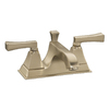KOHLER Memoirs Vibrant Brushed Bronze 2-Handle 4-in Centerset WaterSense Labeled Bathroom Sink Faucet (Drain Included)