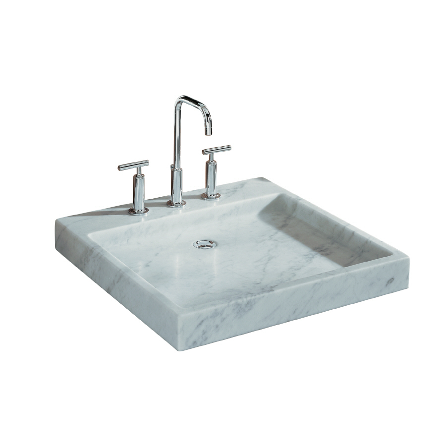 Lowes Bathroom Sinks : ... Carrara Marble Marble Above Counter Square Bathroom Sink at Lowes.com