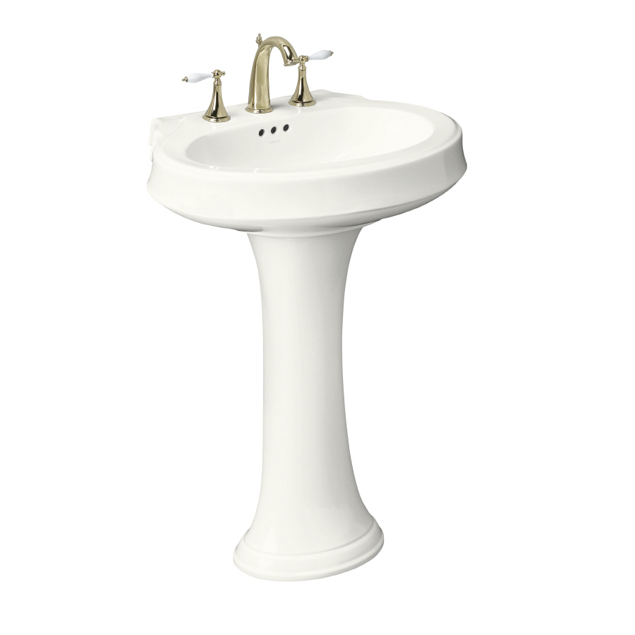 ... 36-in H White Vitreous China Complete Pedestal Sink at Lowes.com