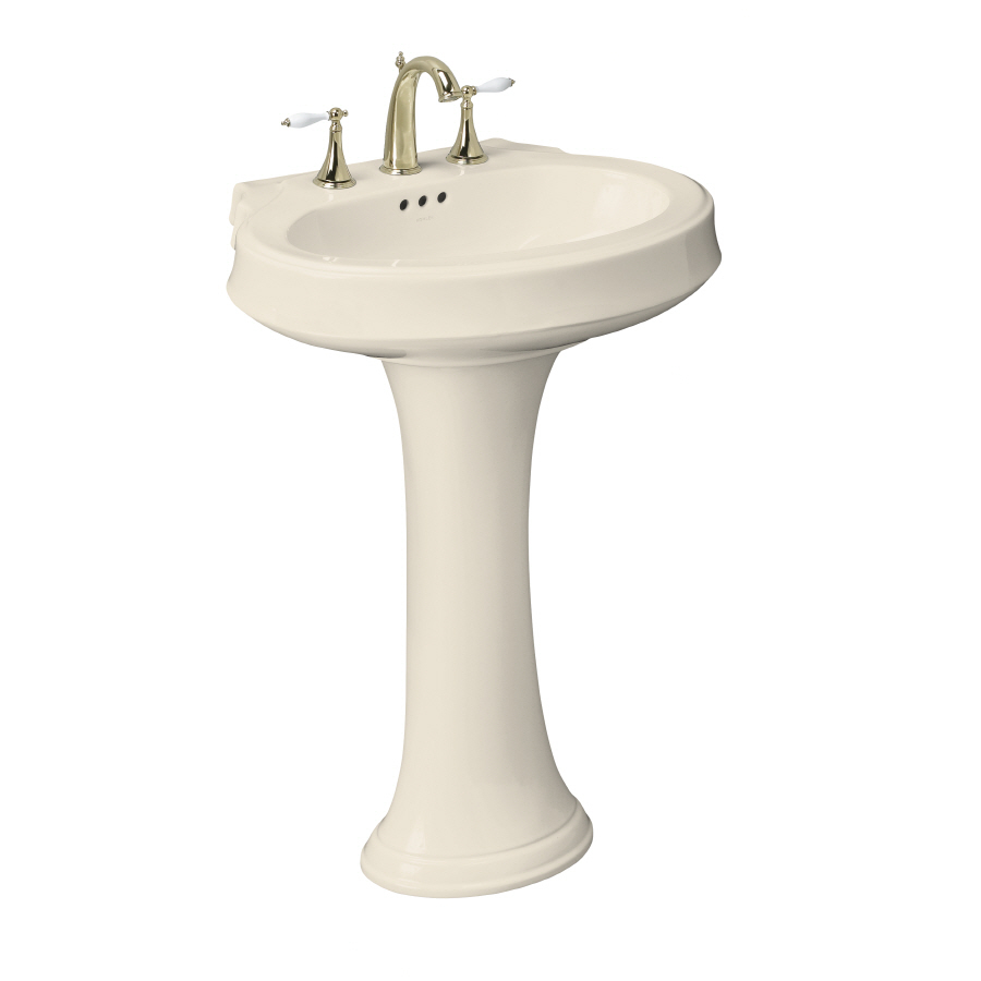 ... 36-in H Almond Vitreous China Complete Pedestal Sink at Lowes.com