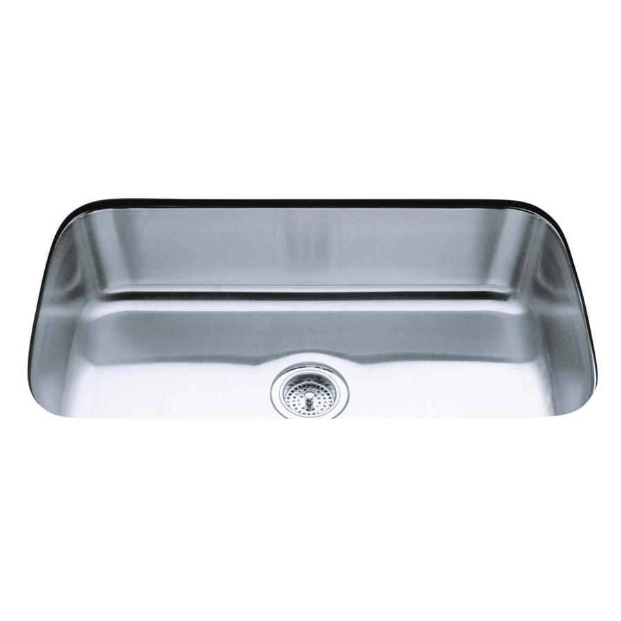 Kohler Stainless Kitchen Sink : KOHLER Undertone Stainless Steel Single-Basin Undermount Kitchen Sink ...