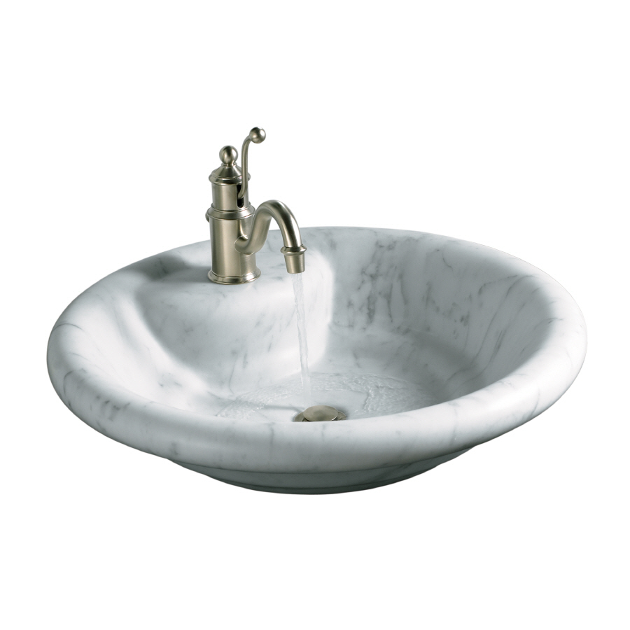 Carrara Marble Sink : ... white carrara marble marble above counter round bathroom sink