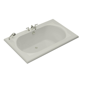 kohler memoirs ice grey acrylic oval in rectangle drop in bathtub with