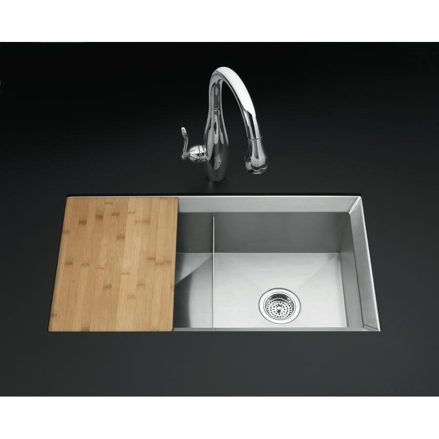Kohler Undermount Stainless Steel Kitchen Sinks : KOHLER Poise 16-Gauge Double-Basin Undermount Stainless Steel Kitchen ...