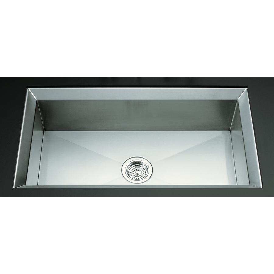 Shop KOHLER Poise Stainless Steel Single-Basin Undermount Kitchen Sink ...