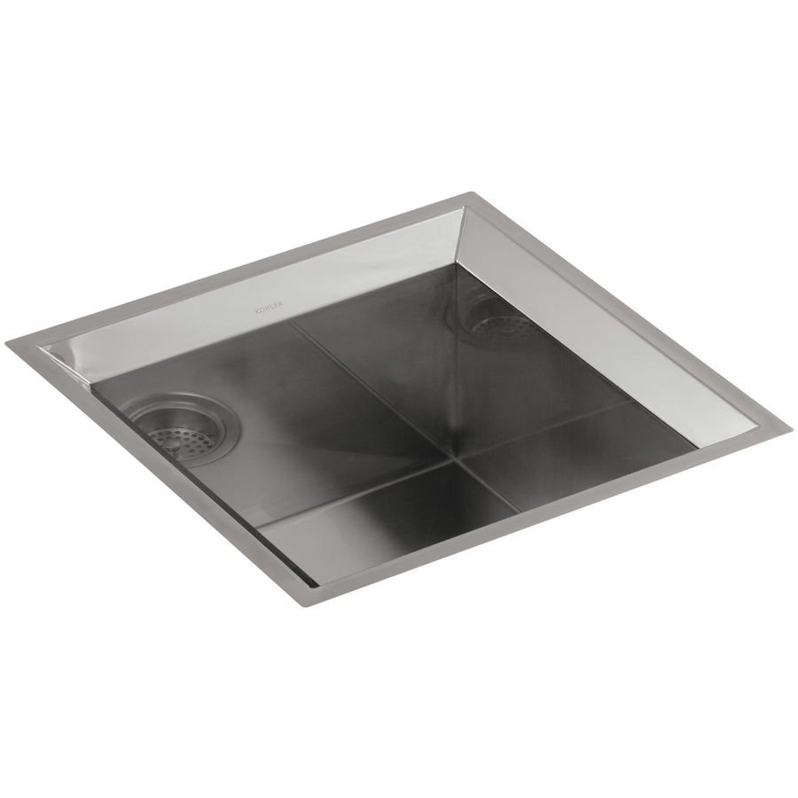 Shop KOHLER Poise Stainless Steel Single-Basin Undermount Bar Sink at ...