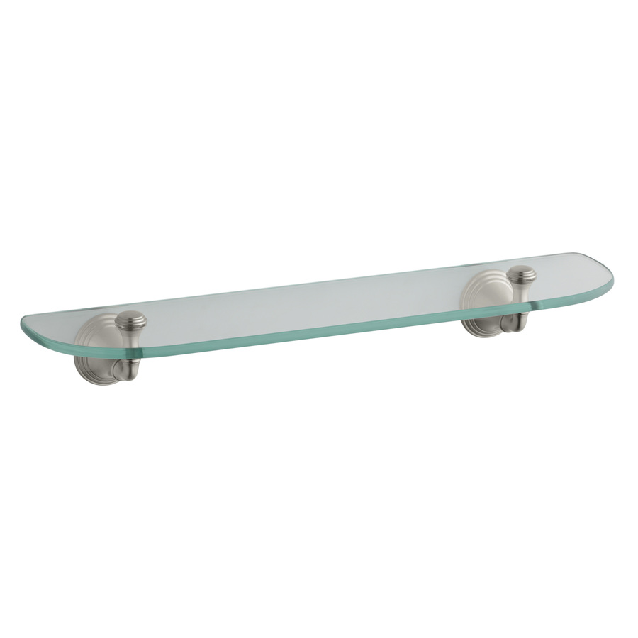 Shop kohler devonshire vibrant brushed nickel glass for Bathroom glass shelves