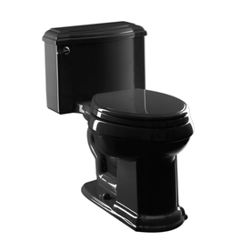 KOHLER Devonshire Black Black 1.6-GPF/6.06-LPF 12-in Rough-in Elongated 1-Piece Comfort Height Toilet