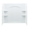 Sterling Ensemble 60-in W x 33-1/4-in D x 55-1/4-in H White Fiberglass Bathtub Wall Surround