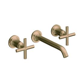 KOHLER Purist Vibrant Brushed Bronze 2-Handle Widespread WaterSense Bathroom Faucet