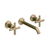 KOHLER Purist Vibrant Brushed Bronze 2-Handle Widespread WaterSense Bathroom Sink Faucet