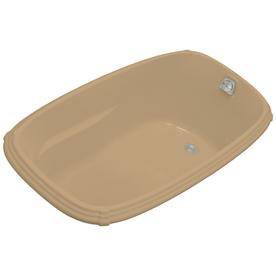 shop kohler portrait mexican sand acrylic oval drop in bathtub with