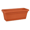 Fiskars 5.5-in H x 24-in W x 7.5-in D Clay Plastic Window Box