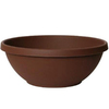 Fiskars 7-in H x 18-in W x 18-in D Chocolate Resin Planter