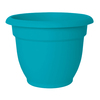 10.25-in H x 13.25-in W x 13.25-in D Blue Resin Pot