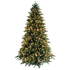 GE 7-1/2&#039; Just Cut Fraser Fir Artificial Christmas Tree with Clear Lights