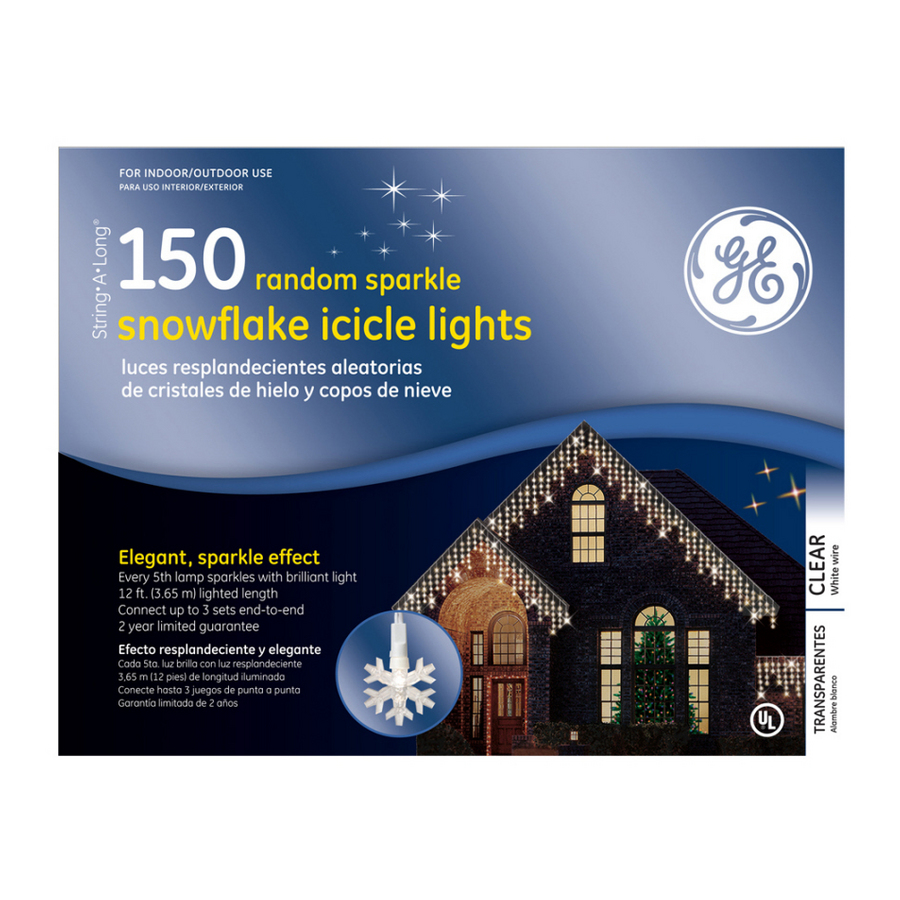 shop ge 150 count clear mini icicle lights at